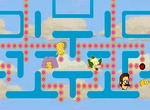 Pacman-game-with-2-simpson