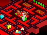 Pacman-game-with-a-chef-in-a-kitchen-garden
