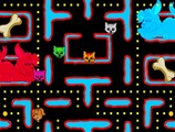 Pacman-game-with-a-dog-and-cats