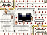 Pacman-game-with-political-figures-in-the-cave-of-the-elysee