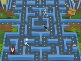 Pacman-game-with-taz-bugs-porky-and-lucas